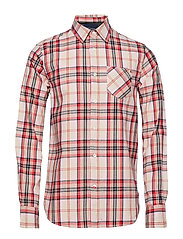 Ams Blauw brushed cotton checked shirt - COMBO C