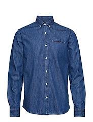 Clean denim shirt - INDIGO