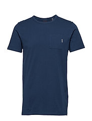 Ams Blauw 1 pocket tee - BLUE SUMMIT