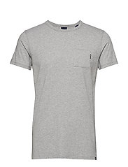Ams Blauw 1 pocket tee - GREY MELANGE