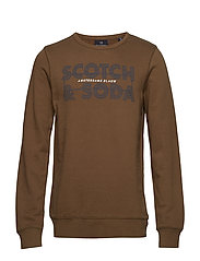 Scotch and Soda Ams Blauw graphic sweat - MILITARY GREEN