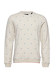Ams Blauw allover print sweat - COMBO D