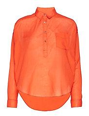 Light weight cotton shirt - SUNSET ORANGE