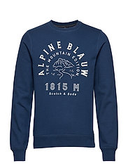 Ams Blauw Crew Neck Sweat - TEAL NAVY