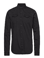 Ams Blauw easy western shirt - BLACK