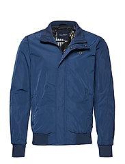 Ams Blauw simple harrington jacket - BLUE SUMMIT