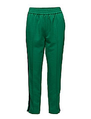 Tailored pants with velvet side tapes - BRIGHT GREEN