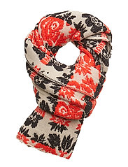 Scarf with floral jacquard pattern - COMBO A