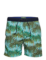 Classic swimshort with summer all-over print - COMBO C