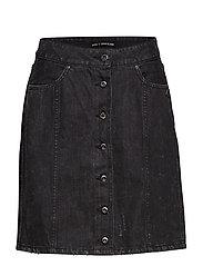 Black denim pencil skirt - WASHED BLACK