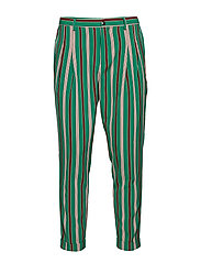 TWILT - Pleated chino in bright printed stripe pattern - COMBO D