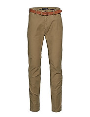 STUART-Classic garment dyed chino - MILITARY