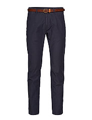 STUART-Classic garment dyed chino - NIGHT