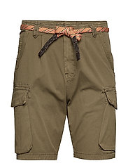 Classic washed cargo short - MILITARY