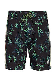 All-over printed swimshort with side seam tape - COMBO B