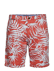 All-over printed chino short in pima cotton quality - COMBO B