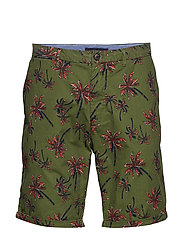 All-over printed chino short in pima cotton quality - COMBO C