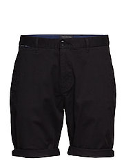 Classic cotton/elastane chino short - BLACK