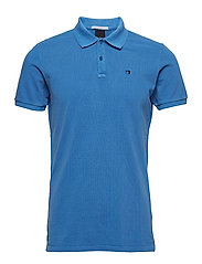 Classic garment-dyed pique polo - BRIGHT BLUE