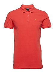 Classic garment-dyed pique polo - CHILLI PEPPER