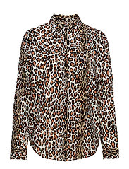 Oversized boxy fit cotton viscose shirt in various prints - COMBO B
