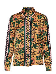 Printed shirt with contrast panels - COMBO P