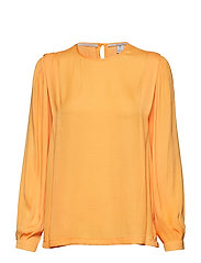 Long sleeve top with pleat details - MANGO