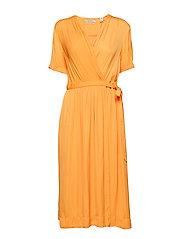 Midi length wrapover dress - MANGO