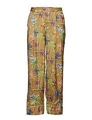 Printed wide leg pyjama inspired pants - COMBO F