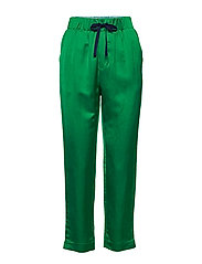 Tailored jogger pants in viscose-linen quality - PALM GREEN
