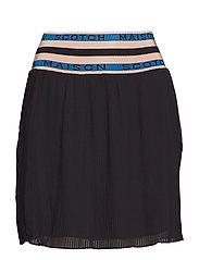 Pleated skirt with 'Maison Scotch' elastic waistband - BLACK