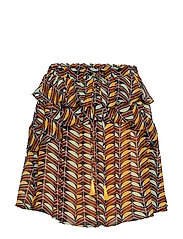 Printed skirt with ruffles - COMBO F