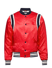 Brutus Ams Blauw colab bomber jacket - LIFEGUARD RED