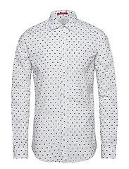 Slim fit crispy L/S shirt with prints - COMBO D
