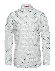 Slim fit crispy L/S shirt with prints - COMBO E