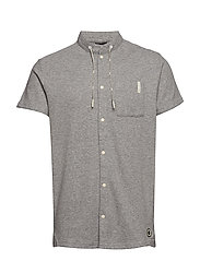 Club Nomade S/S shirt with technical details - GREY MELANGE