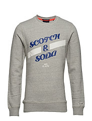 Basic Scotch & Soda sweat in regular fit - GREY MELANGE