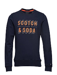 Basic Scotch & Soda sweat in regular fit - NAVY