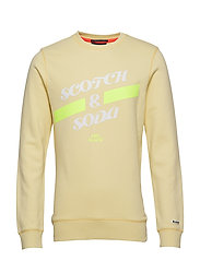 Basic Scotch & Soda sweat in regular fit - SUNBLEACH YELLOW