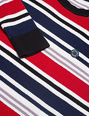 Scotch & Soda - Longsleeve tee in 3D waffle with deck chair stripes - pulls col rond - combo a - 2