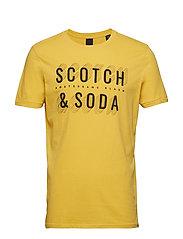 Short sleeve Scotch & Soda logo tee - BUMBLE BEACH YELLOW