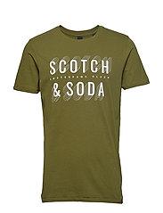 Short sleeve Scotch & Soda logo tee - MILITARY