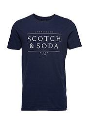 Short sleeve Scotch & Soda logo tee - NAVY