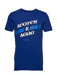 Short sleeve Scotch & Soda logo tee - YINMIN BLUE