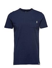 Ams Blauw pocket tee in seasonal colours - NAVY