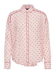Boxy fit allover printed viscose mix shirt - COMBO B