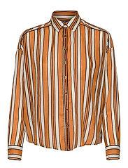 Boxy fit allover printed viscose mix shirt - COMBO C