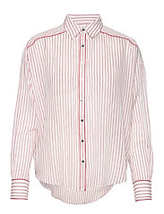 Boxy fit allover printed viscose mix shirt - COMBO D