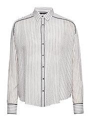 Boxy fit allover printed viscose mix shirt - COMBO E