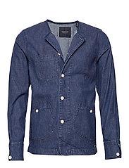 Ams Blauw matchy matchy tailored workwear jacket - INDIGO